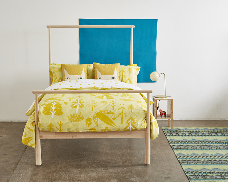 Donna Wilson Flying Bird Bed Set Yellow