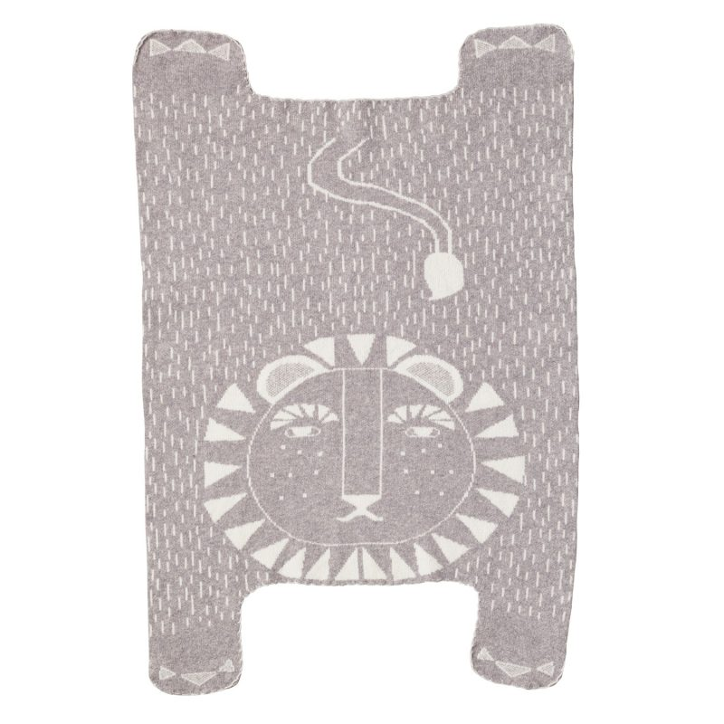 Donna Wilson - Lion Shaped Mini Blanket - Grey