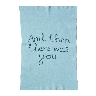 Donna Wilson - And Then There Was You Mini Blanket - Blue