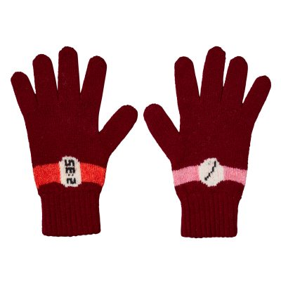 Donna Wilson - All The Time Gloves - Burgundy