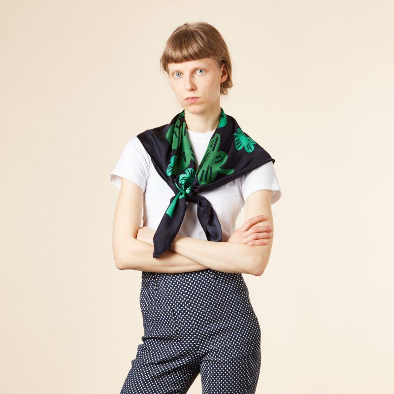 Donna Wilson - Clover Silk Scarf - Green