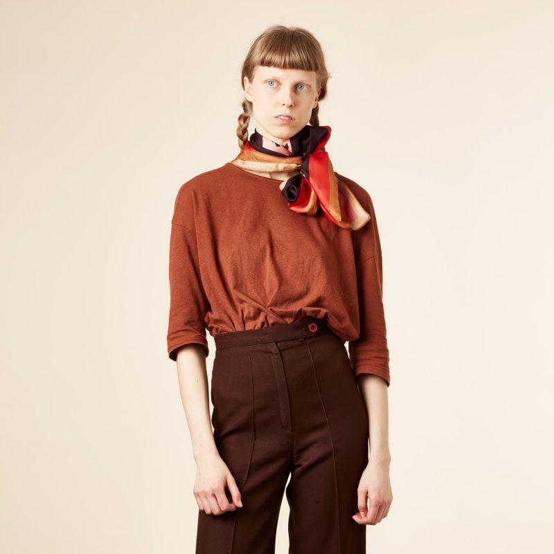Donna Wilson - Snake Silk Scarf - Red