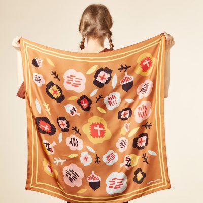 Donna Wilson - Flower Silk Scarf - Gold
