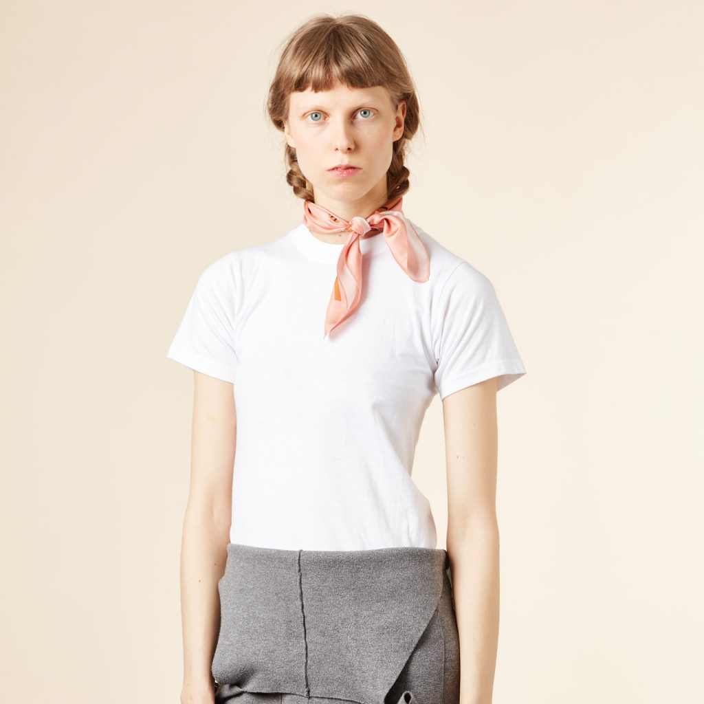 Donna Wilson - Flower Silk Neckerchief - Pink