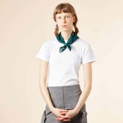 Donna Wilson - Clover Silk Neckerchief - Green
