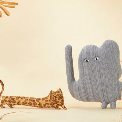 Donna Wilson - Lenny Leopard + Jumbo Elephant