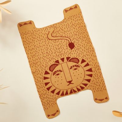Donna Wilson - Lion Shaped Mini Blanket - Mustard