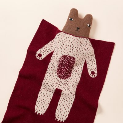 Donna Wilson - Bear Mini Blanket - Burgundy