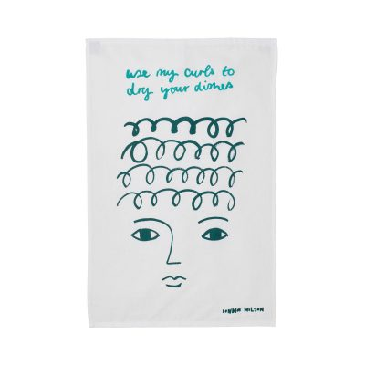 Use My Curls Tea Towel - Donna Wilson