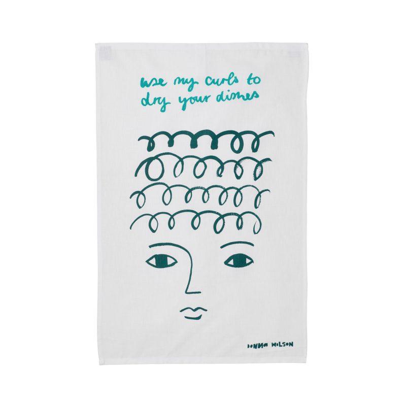 Use My Curls Tea Towel - Donna Wilson