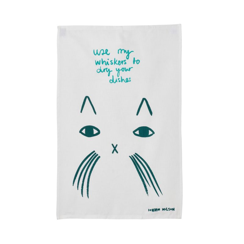 Use My Whiskers Tea Towel - Donna Wilson