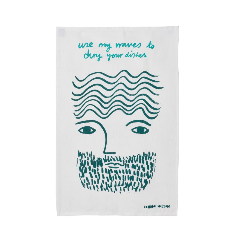 Use My Waves Tea Towel - Donna Wilson