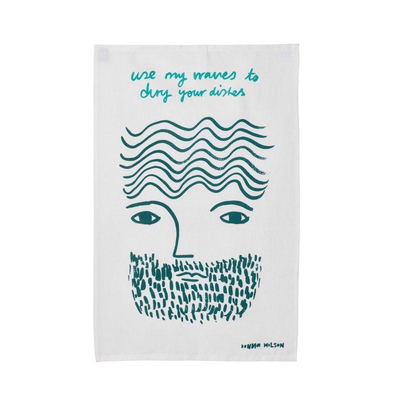 Use My Waves Tea Towel - Donna Wilson