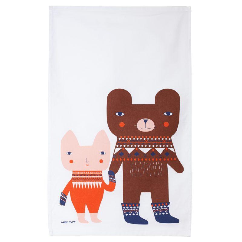 Bear Friends Tea Towel Donna Wilson