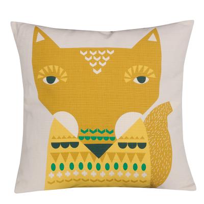 Donna Wilson Fox Cushion Yellow Front