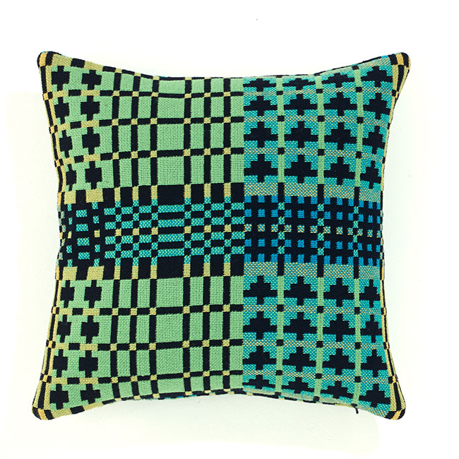 Field Day Cushion - Black Forest Reverse