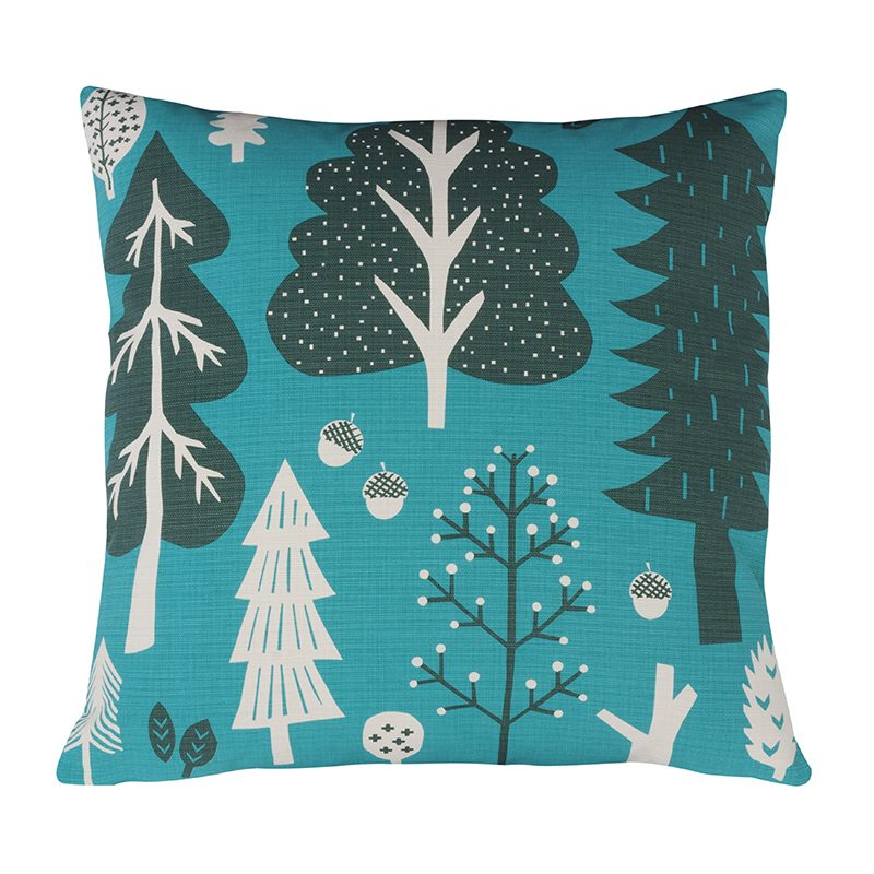 Donna Wilson Forest Cushion Turquoise Front