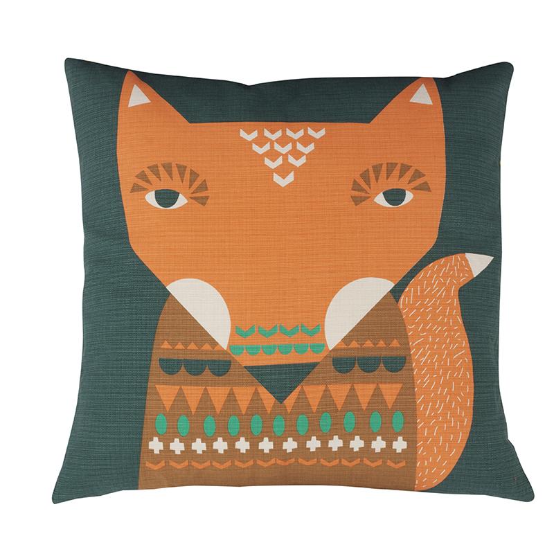 Donna Wilson Fox Cushion Orange Front