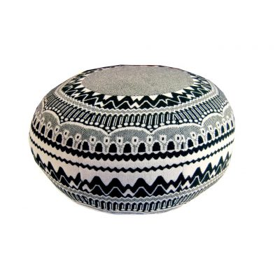 Donna Wilson - Frank Pouffe - ZigZag - Black and White
