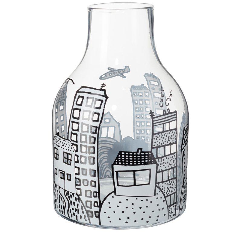 Glass City Vase Donna WIlson Back