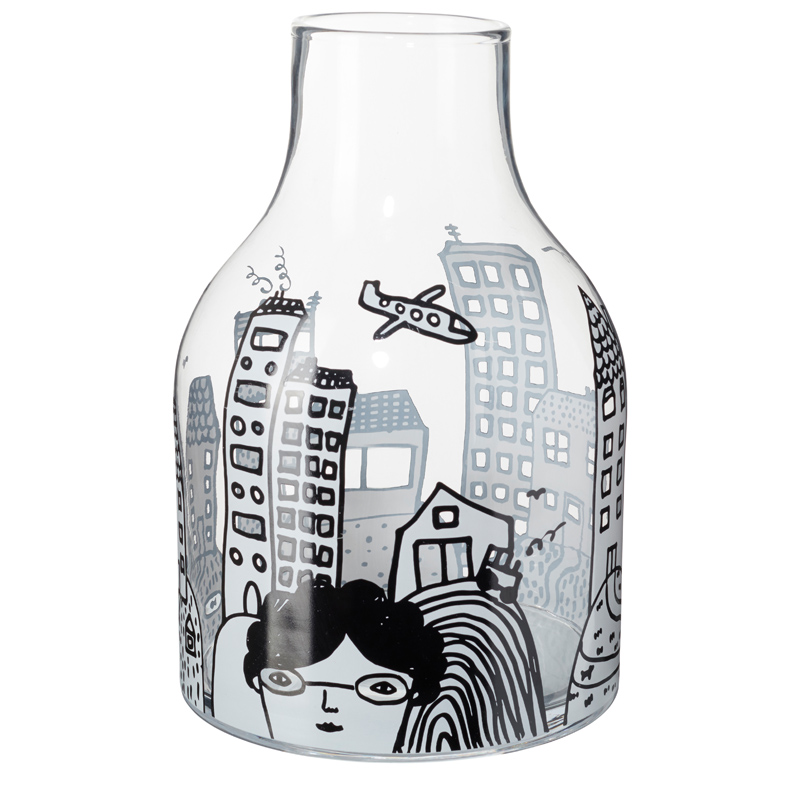 Glass City Vase Front