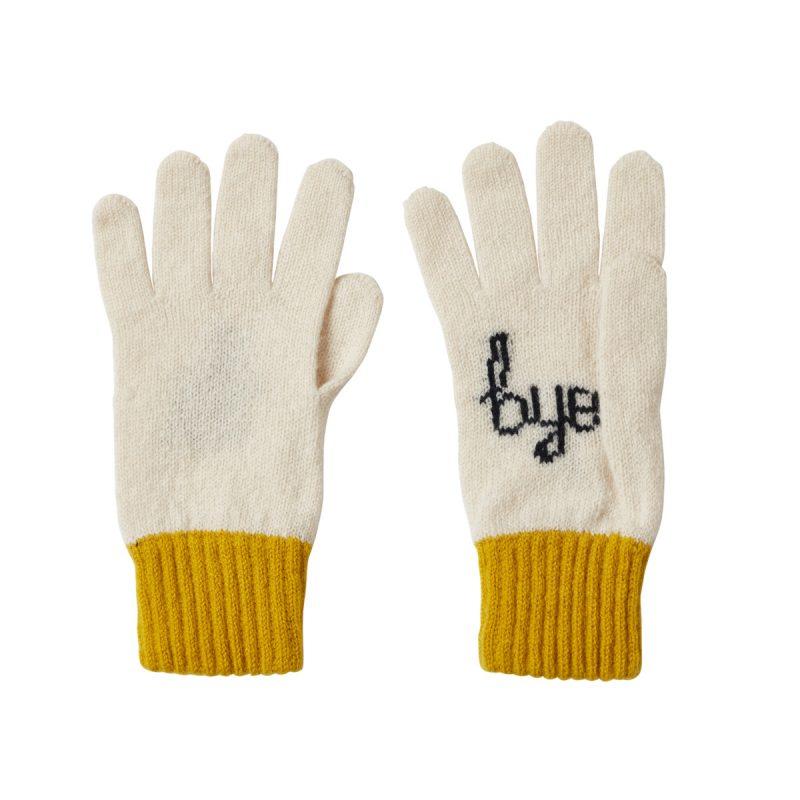 Donna Wilson Hi Bye Gloves Mustard Bye