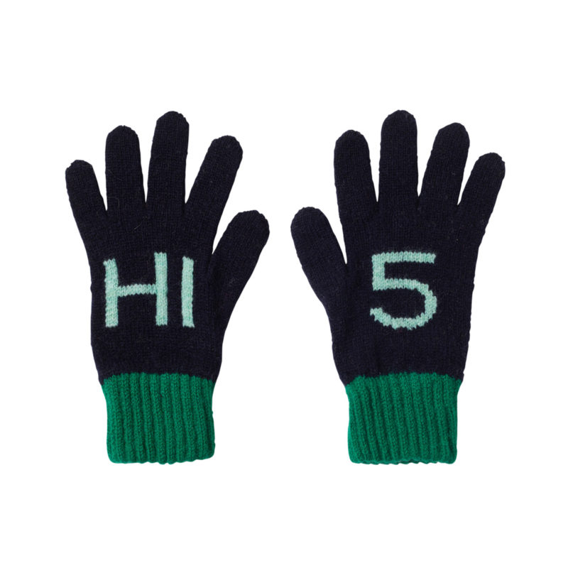 Donna Wilson Kids Hi5 Gloves Navy