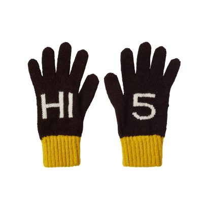 Donna Wilson Kids Hi5 Gloves Ebony