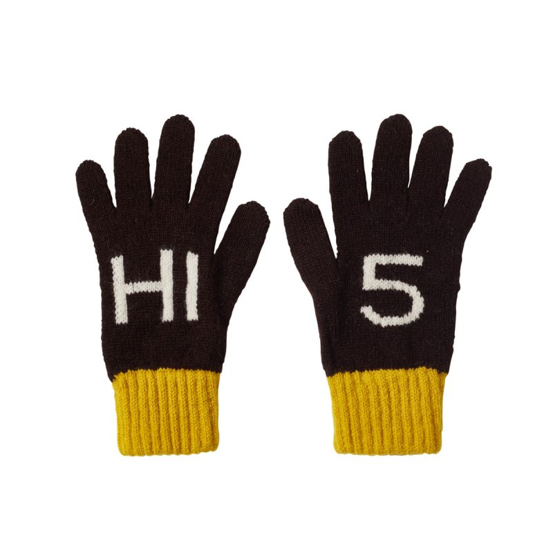 Donna Wilson Kids Hi5 Gloves Ebony