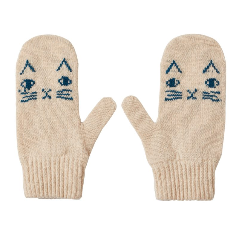 Donna Wilson Kids Mog Mitts Oatmeal
