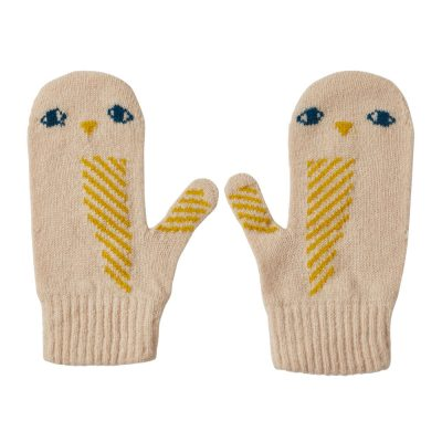 Donna Wilson - Owl Mitts - Oatmeal