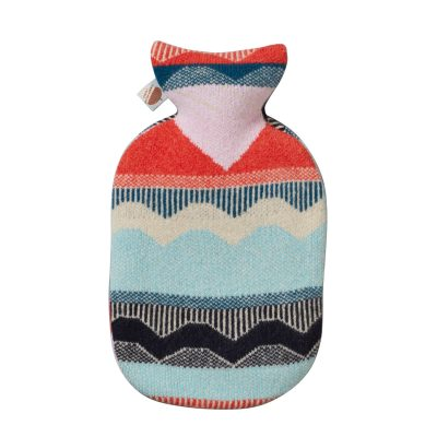 Circus Hot Water Bottle - Blue + Red - Donna Wilson