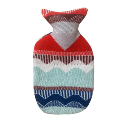 Hot Water Bottle - Circus Hot Water Bottle - Red Brown Blue