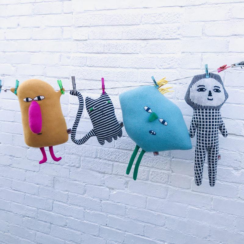 Parker, Mono Cat, Nippy & Hector - Donna Wilson