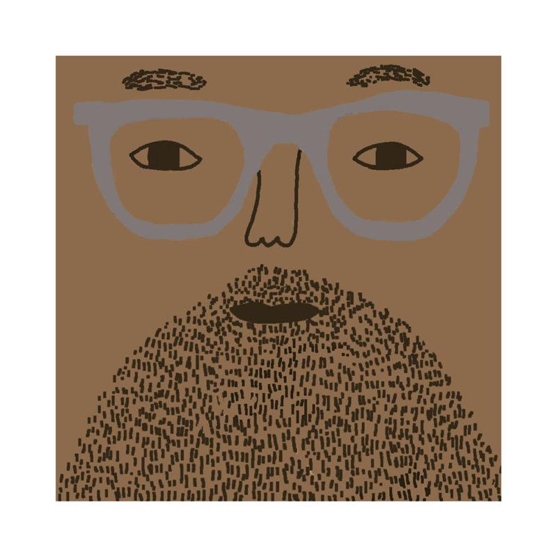 Johnny Cushion - Mid Tone, Brown Beard & Grey Glasses