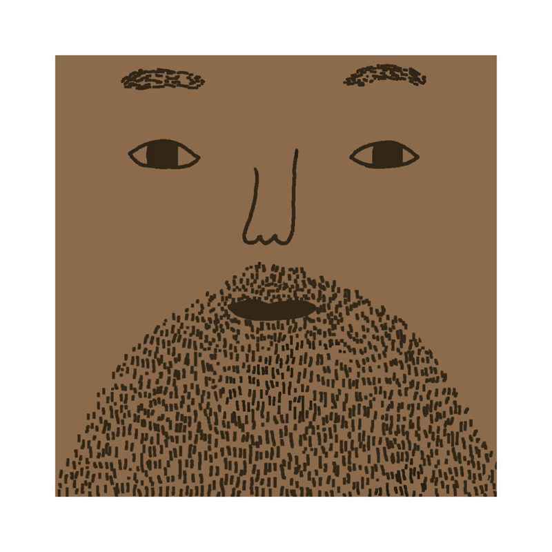 Johnny Cushion - Mid Tone, Brown Beard & No Glasses