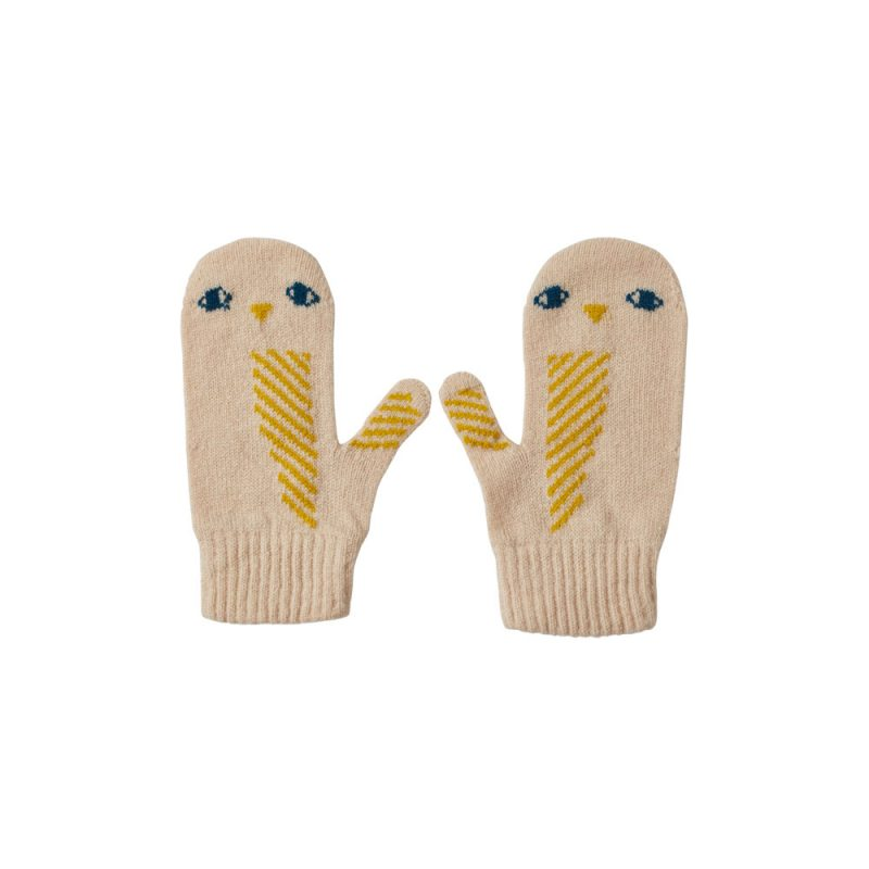 Donna Wilson - Kids' Owl Mitts - Oatmeal