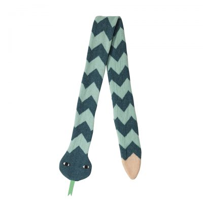 Donna Wilson Kids Snake Scarf Mint Peach