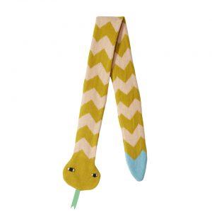 Snake Scarf - Mustard Peach