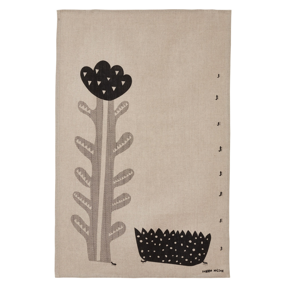 Flower and Tuft Tea Towel
