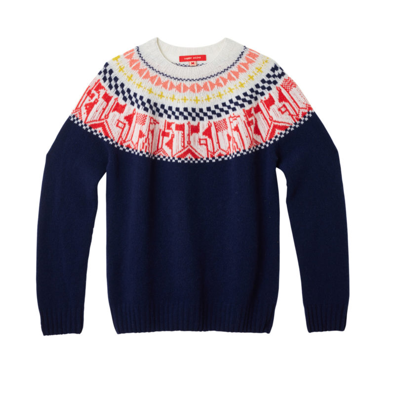 Donna Wilson Flags Sweater Navy