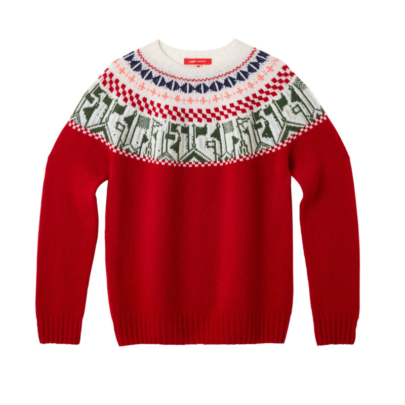 Donna Wilson Flags Sweater Ruby