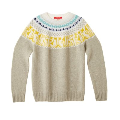Donna Wilson Flags Sweater Pebble