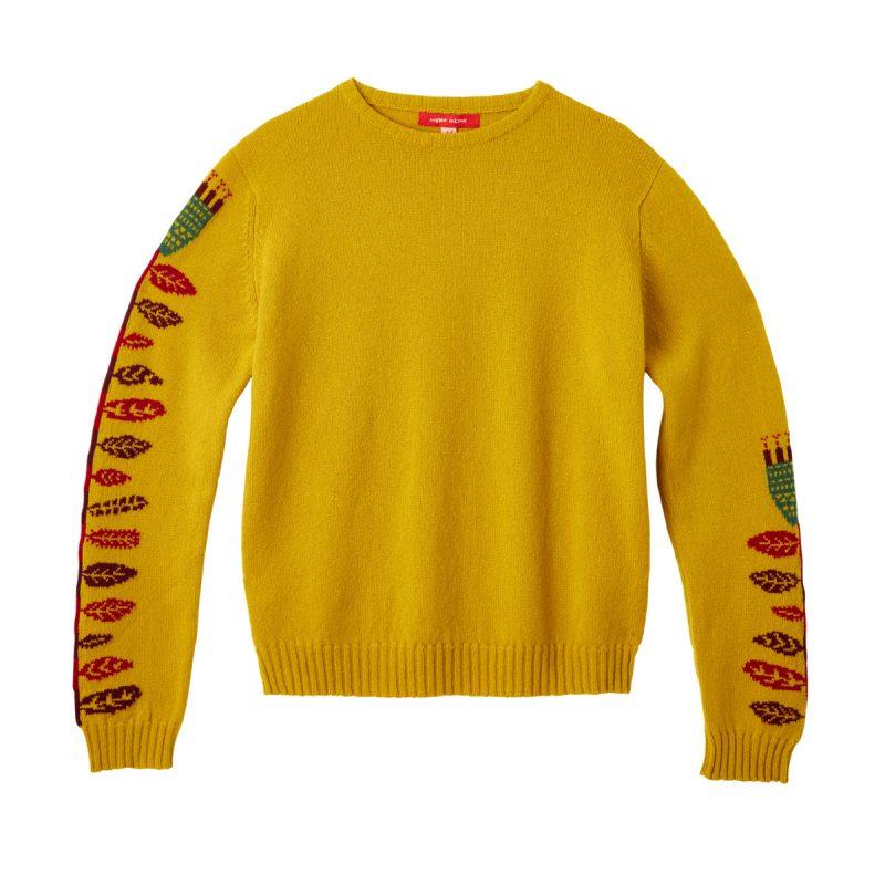 Donna Wilson Flower Sweater Mustard