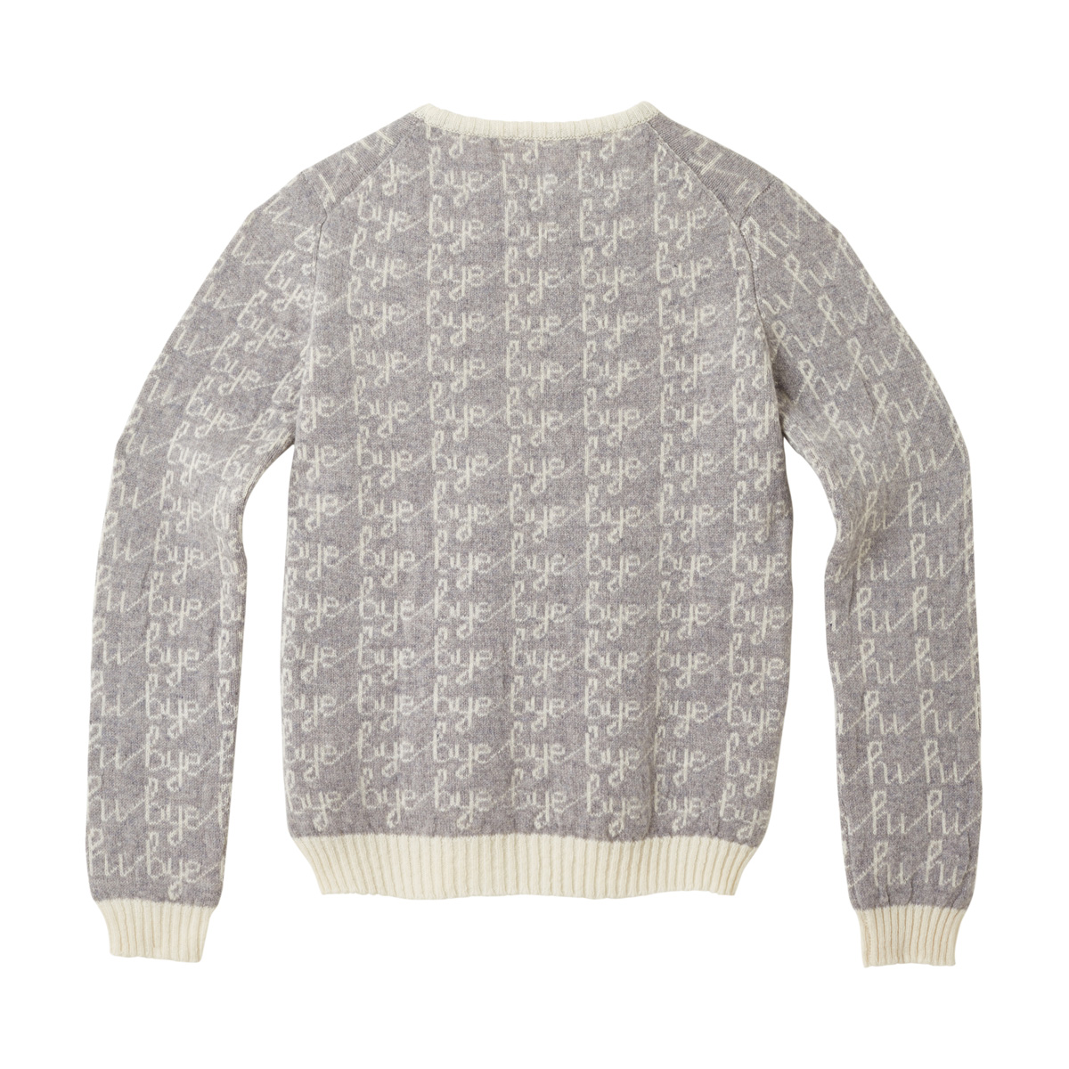 Donna Wilson Hi Bye Sweater Grey Back