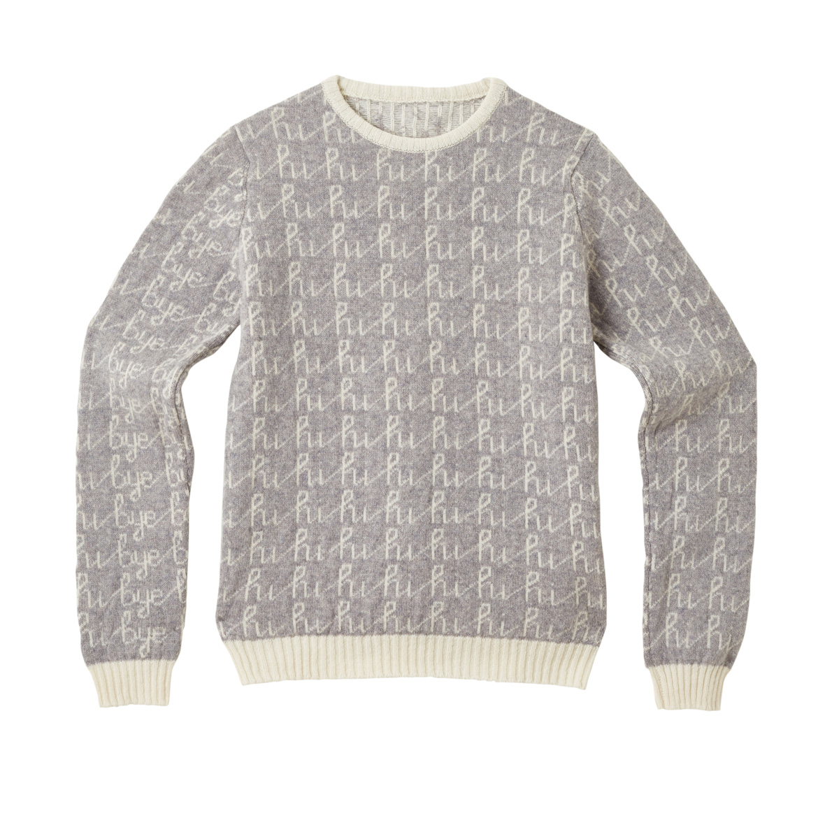 Donna Wilson Hi Bye Sweater Grey Front
