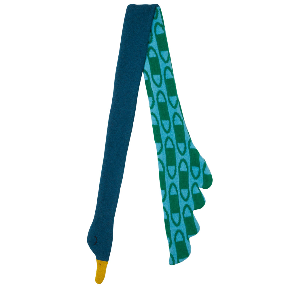 Donna Wilson Peacock Scarf Blue Green