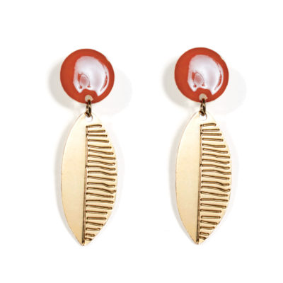 Leaf Earrings - TITLEE x DONNA WILSON
