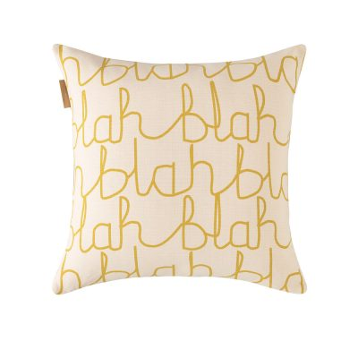 Donna Wilson - Blah Blah Cotton Cushion - Reverse