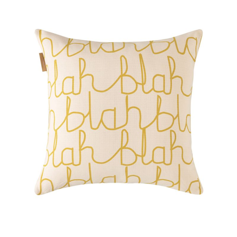 Donna Wilson - Blah Blah Cotton Cushion - Reverse